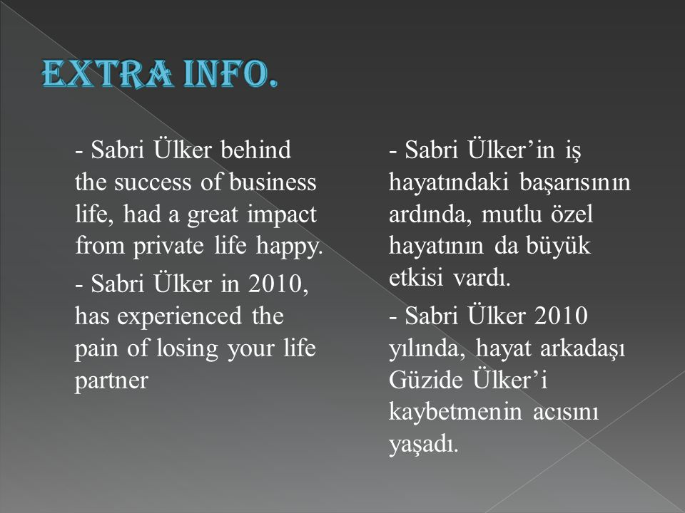 Sabri Ülker, described the secret of success