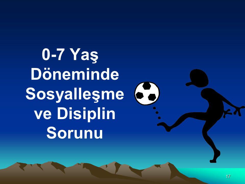 17 0-7 Yaş Döneminde Sosyalleşme ve Disiplin Sorunu