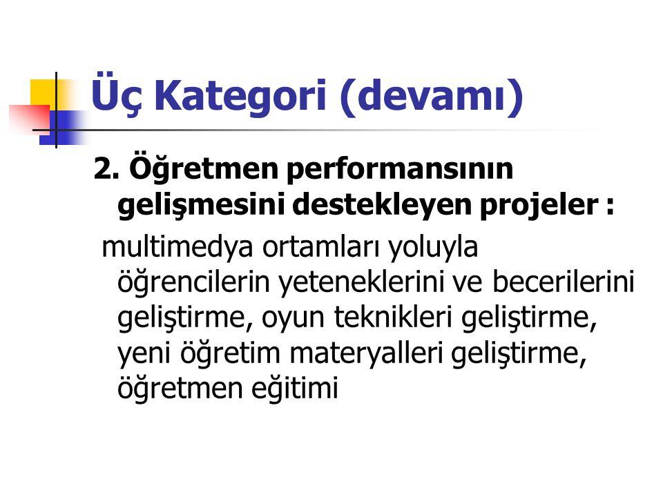 Üç Kategori (devamı) 2.