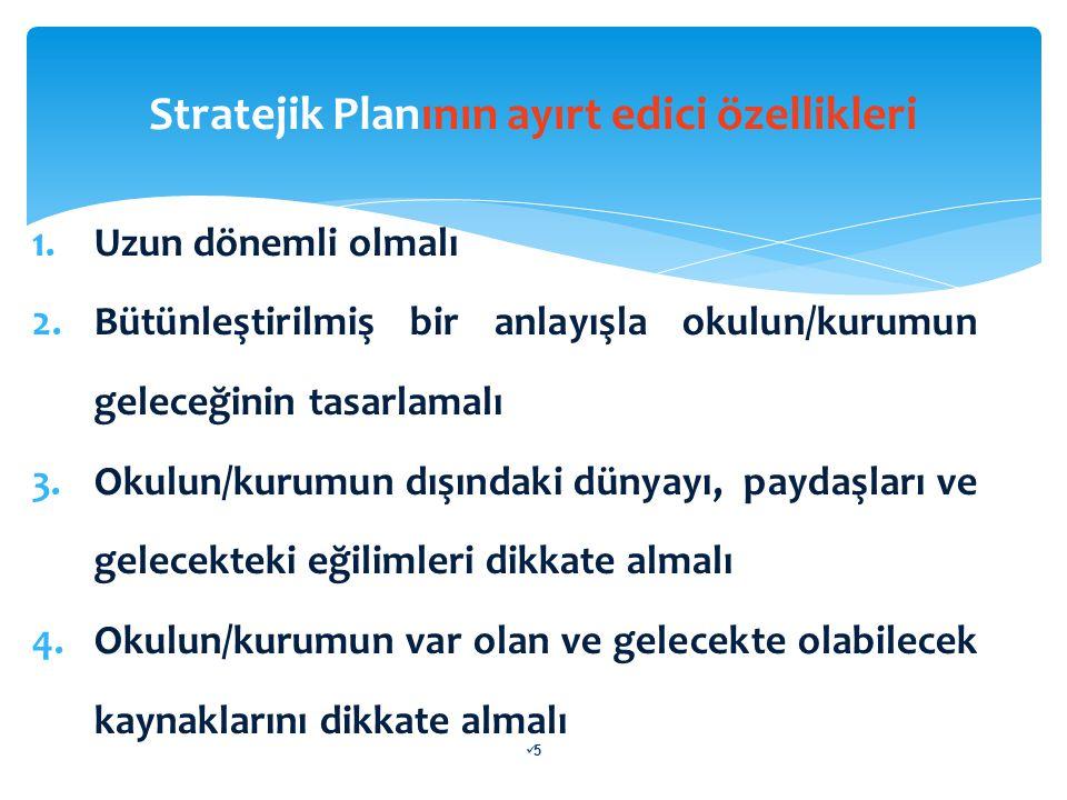 STRATEJİK PLANLAMA SÜRECİ  Stratejik planlama ekibi; Önce hazırlık dönemine ilişkin faaliyetleri ve zaman çizelgesini içeren bir hazırlık programı oluşturur.