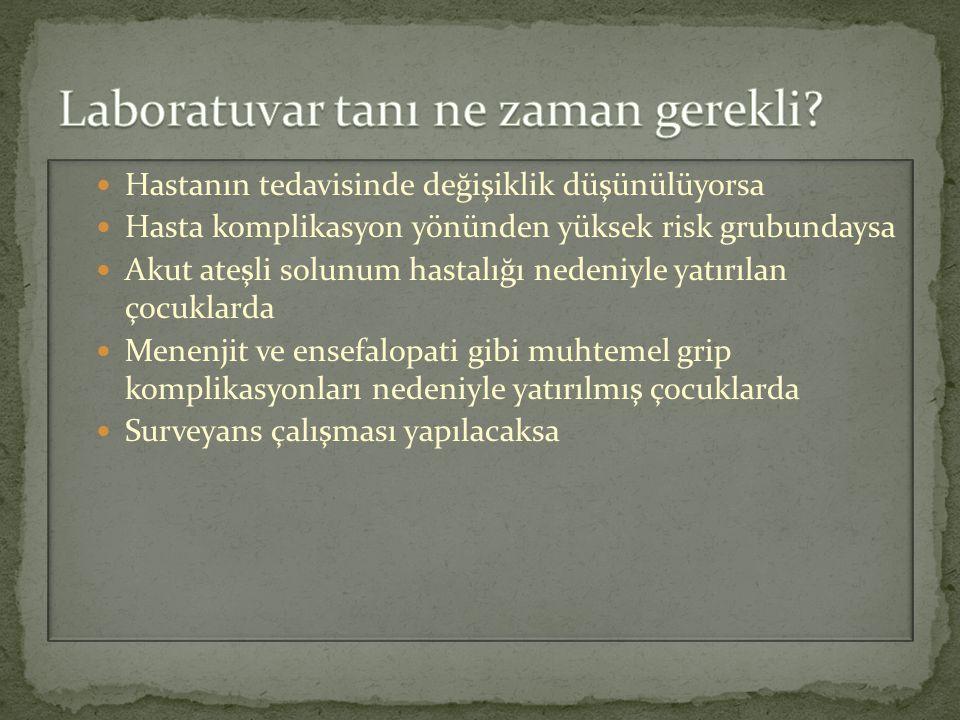Ülkemizde grip surveyans çalışmasını Türkiye Halk Sağlığı Kurumu (Hıfzıssıhha) yürütmektedir.