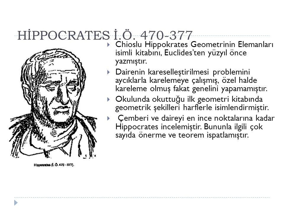 HİPPOCRATES İ.Ö.