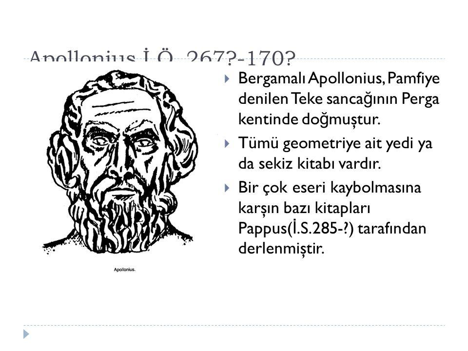 Apollonius İ.Ö.267?-170.