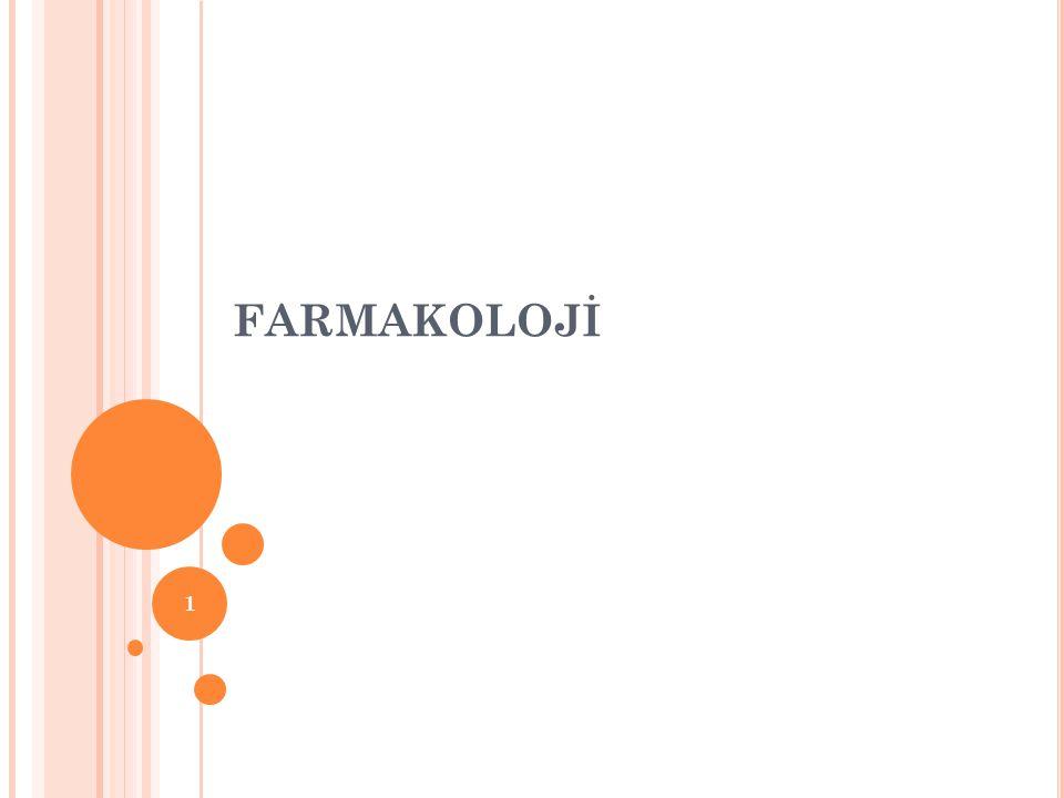 FARMAKOLOJİ 1