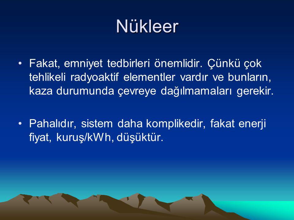 Nükleer Fakat, emniyet tedbirleri önemlidir. Çünkü çok tehlikeli radyoaktif elementler vardır ve bunların, kaza durumunda çevreye dağılmamaları gereki