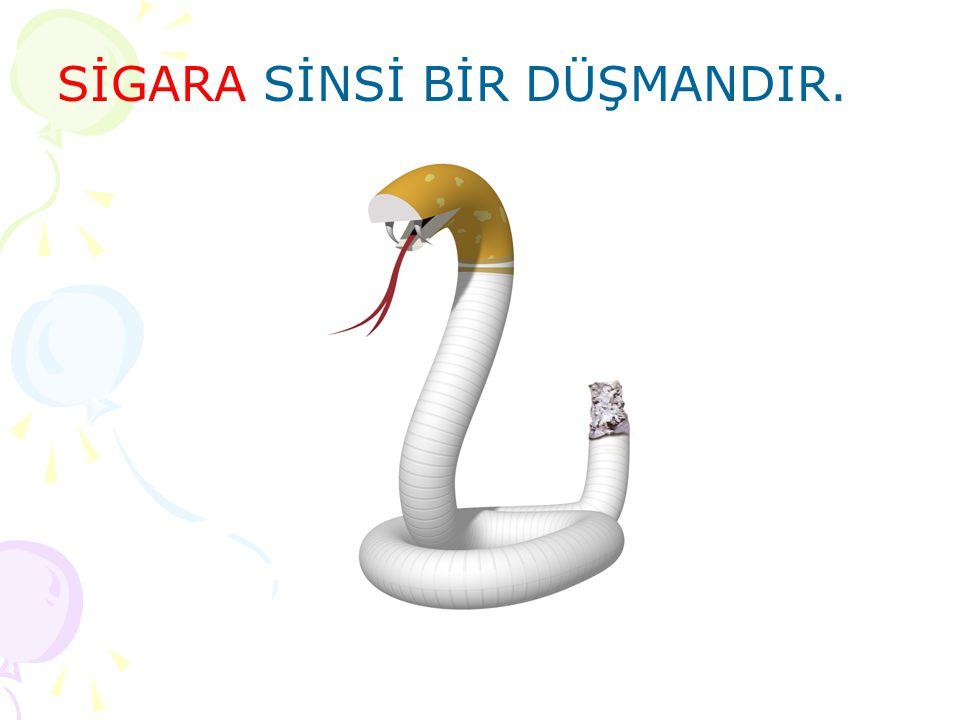 SİGARA SİNSİ BİR DÜŞMANDIR.