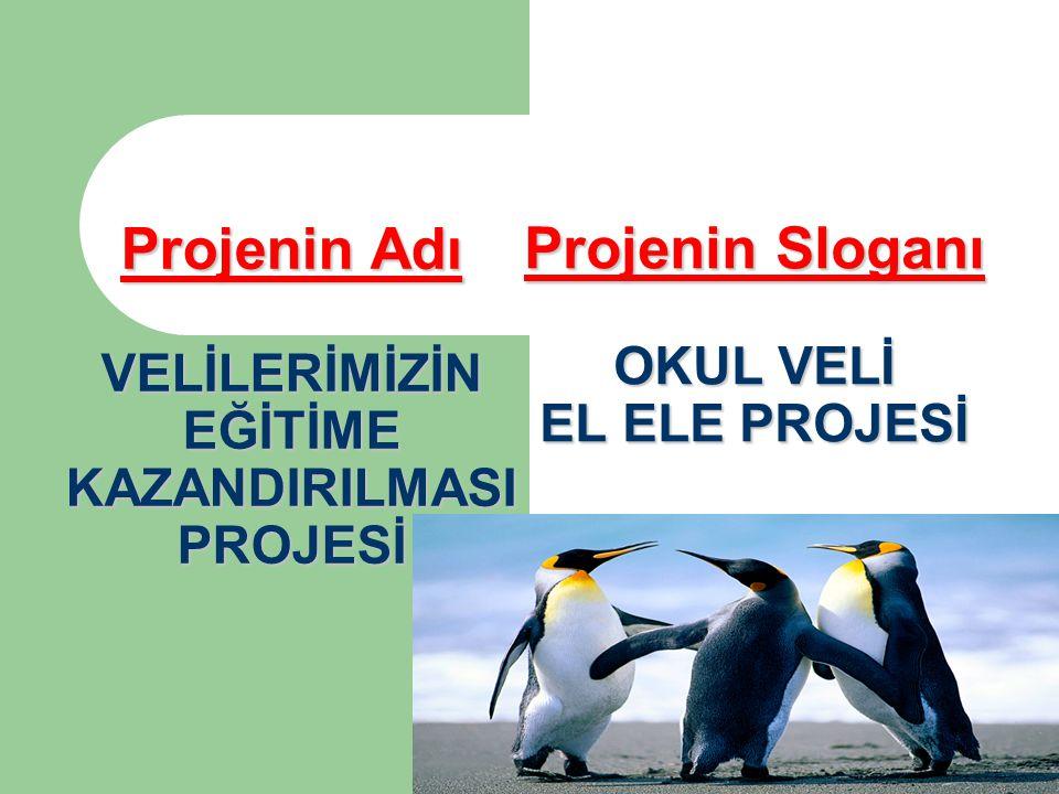 Projenin Sloganı OKUL VELİ EL ELE PROJESİ Projenin Adı VELİLERİMİZİN EĞİTİME KAZANDIRILMASI PROJESİ