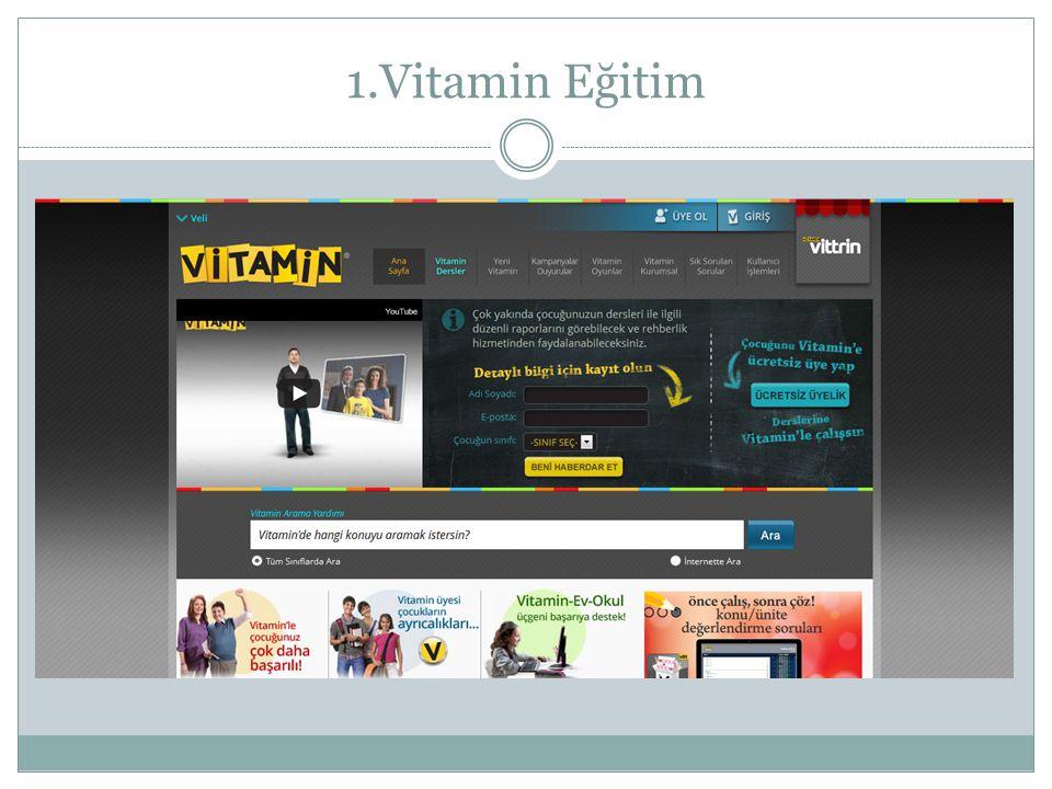 1.Vitamin Eğitim