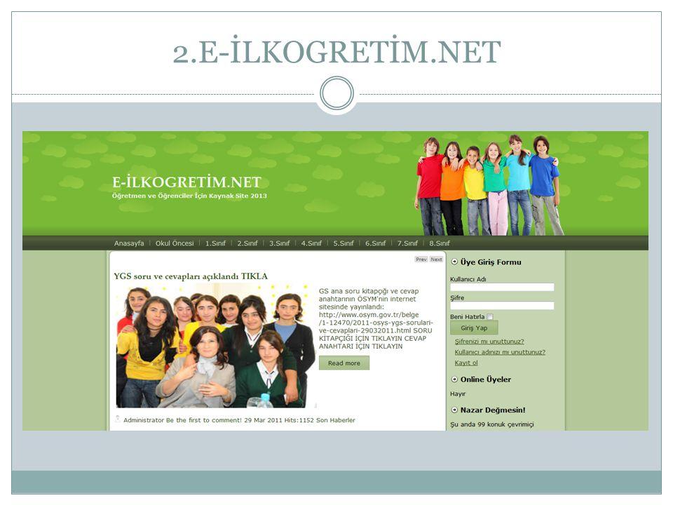Neden E-İLKOGRETİM.NET.
