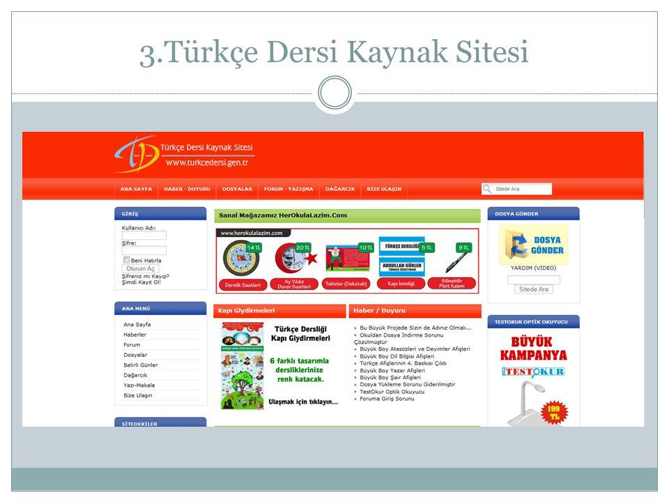 3.Türkçe Dersi Kaynak Sitesi