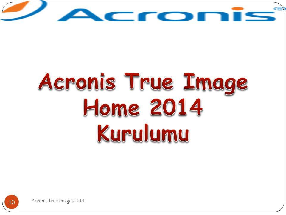Acronis True Image 2.014 13