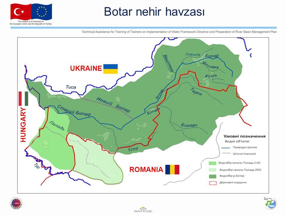 Botar nehir havzası UKRAINE HUNGARY ROMANIA