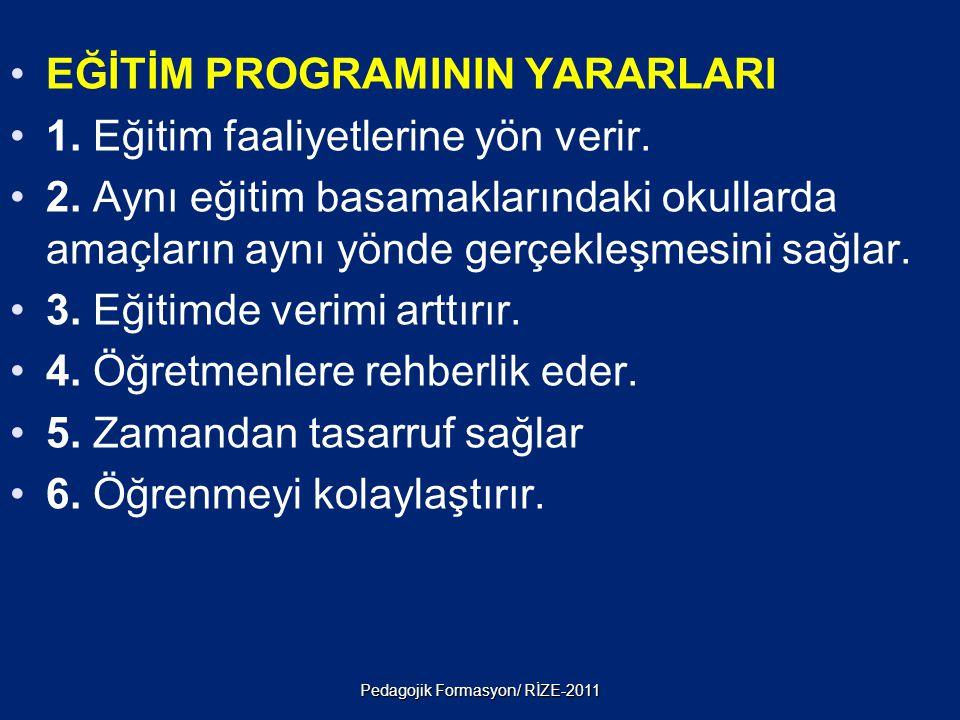 2. İçerik: Bir programın içinde bulunması gereken, öğretilecek konuların düzenlenmiş bütünüdür. İçeriği, konu alanı uzmanı ve program geliştirme uzman
