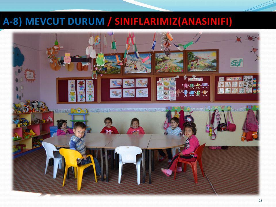 21 A-8) MEVCUT DURUM / SINIFLARIMIZ(ANASINIFI)
