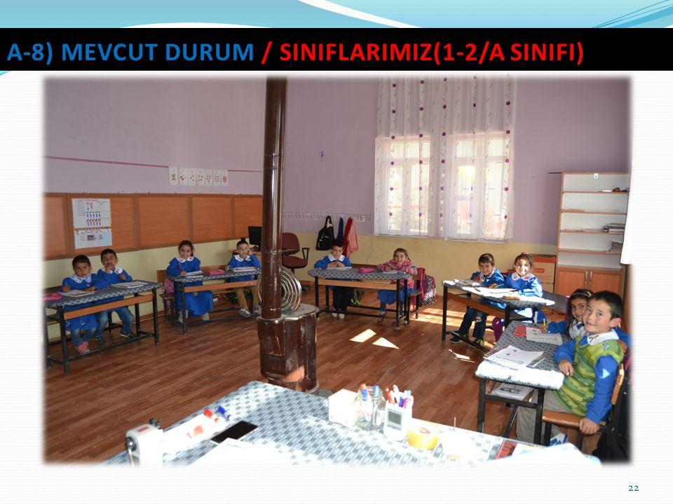 22 A-8) MEVCUT DURUM / SINIFLARIMIZ(1-2/A SINIFI)