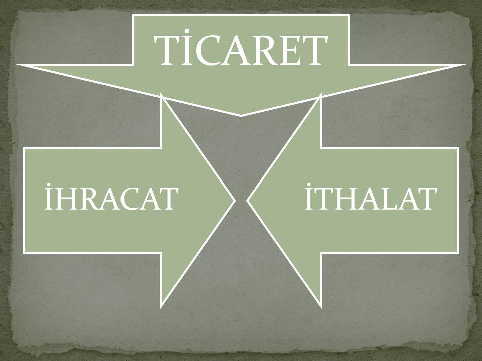 TİCARET İHRACATİTHALAT