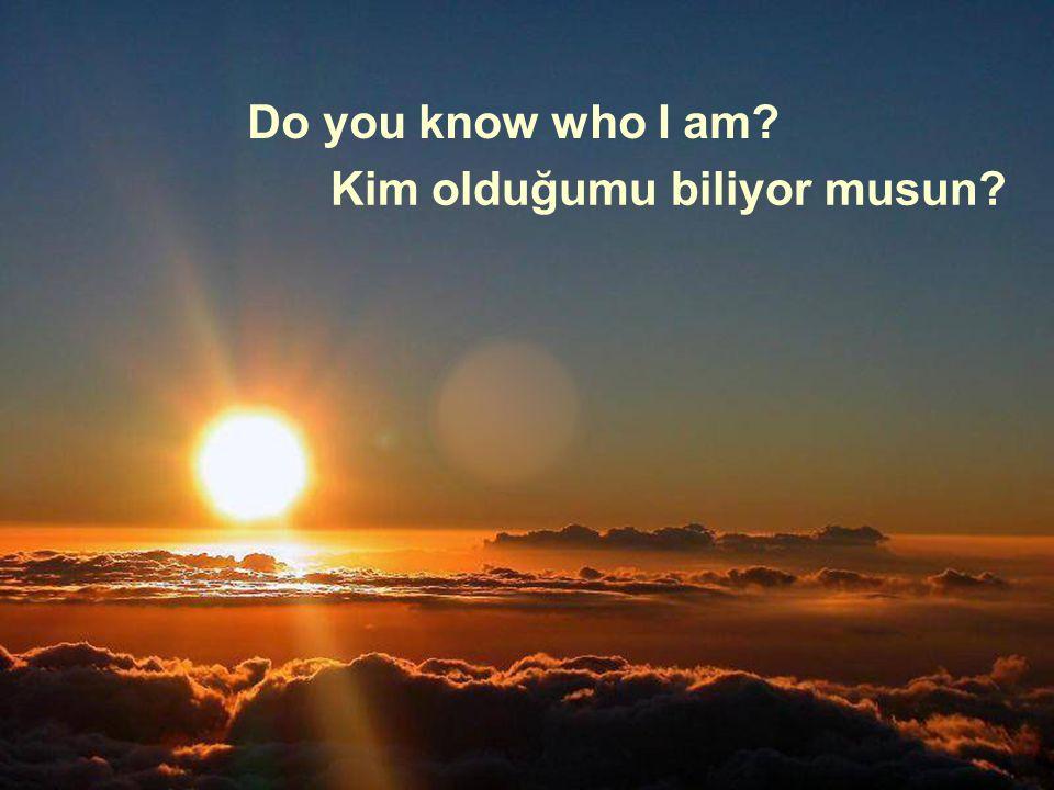 Do you know who I am? Kim olduğumu biliyor musun?