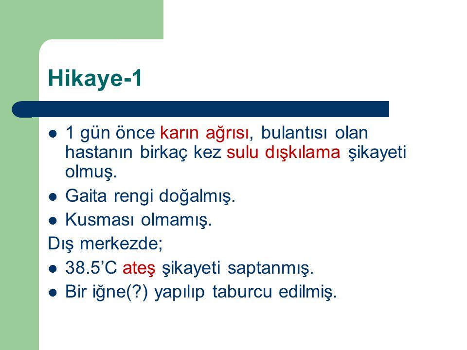 GİS KANAMA-2 En SIK; YD Hematemez: Anne kanı yutulması.