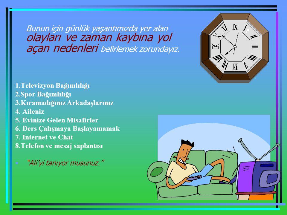 Plansızlık Dikkatsizliğe, İsteksizliğe, Yorgunluğa, Bitkinliğe, Ve dalgınlığa neden olur.