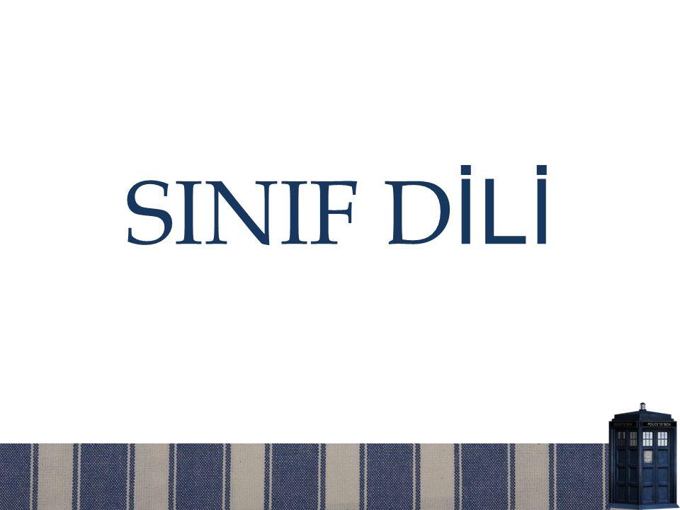 SINIF D İLİ