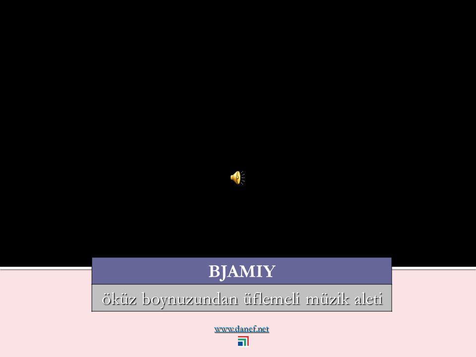 www.danef.net BJAMIY öküz boynuzundan üflemeli müzik aleti
