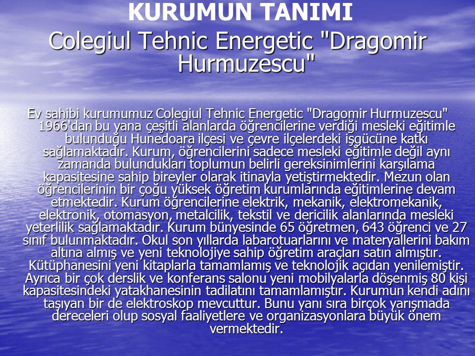 KURUMUN TANIMI Colegiul Tehnic Energetic