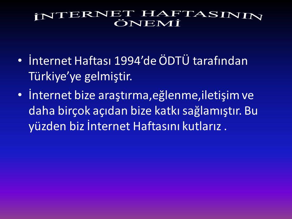 İNTERNET HAFTASINDA İZMİR'İN ETKİNLİKLERİ İzmir İnternet Haftası 2014 yılı etkinlikleri çerçevesinde, bireylerin interneti doğru kullanmalarını desteklemenin yanı sıra Fatih Projesinin de amacına ulaşması, beklenen etkiyi yaratması için 2014´de İzmir İnternet Haftası dahilinde çalışta ve atölye günleri düzenlenmesi planlanmaktadır.