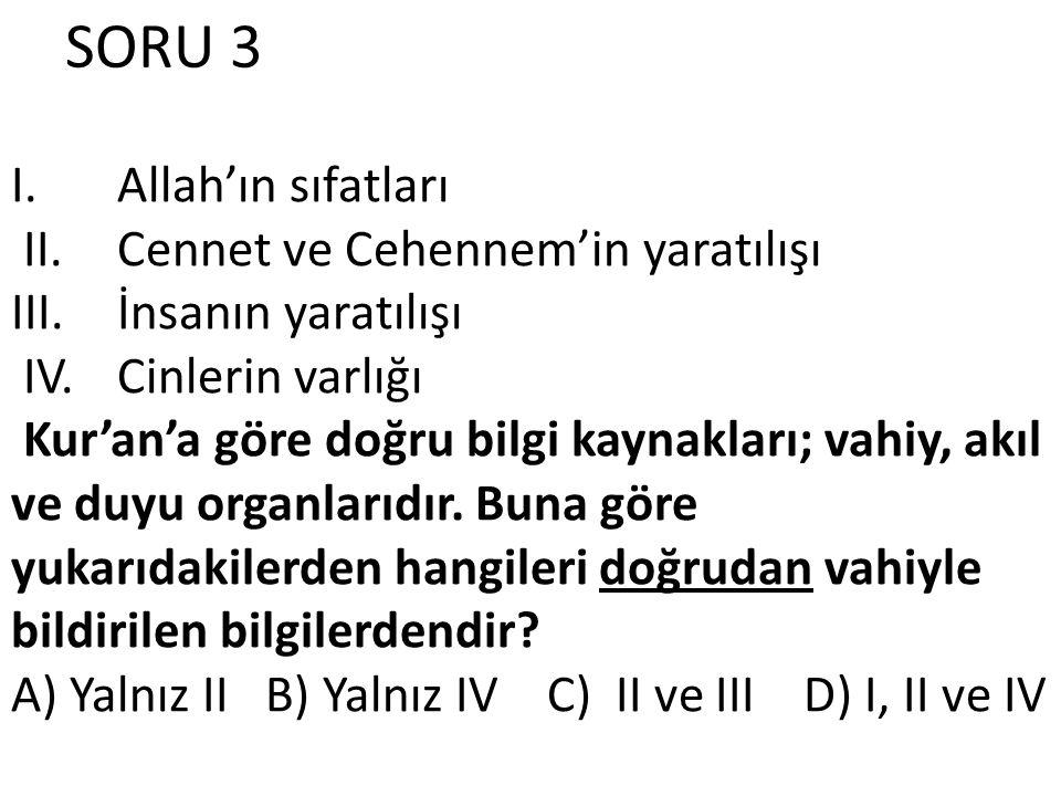 SORU 3 I.