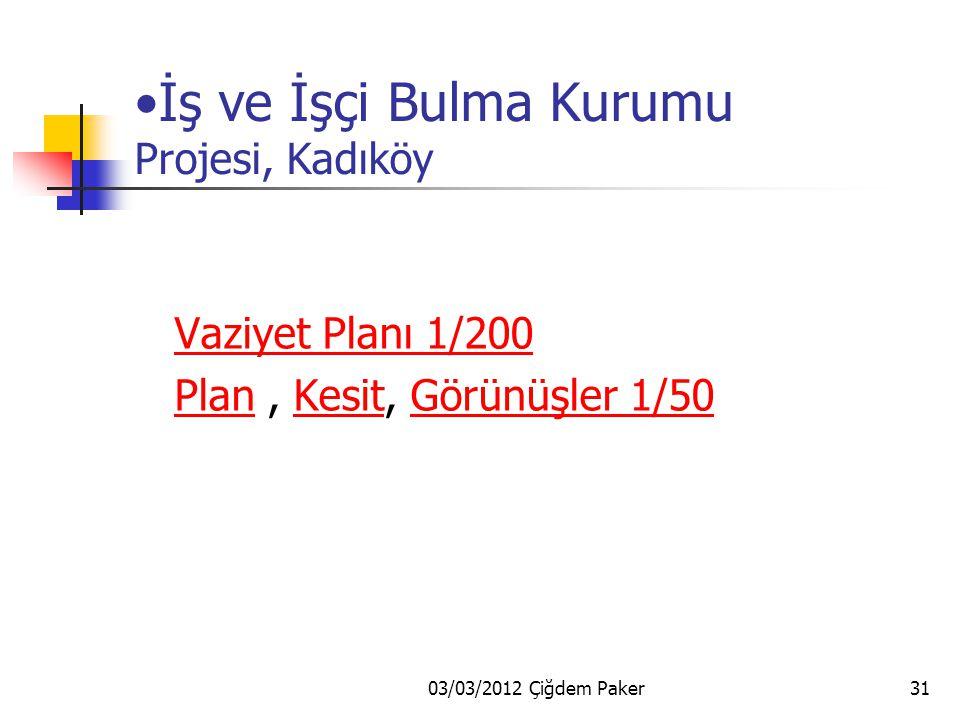 03/03/2012 Çiğdem Paker30