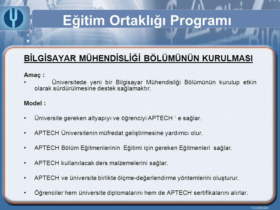 Eğitim Ortaklığı Programı BİLGİSAYAR MÜHENDİSLİĞİ BÖLÜMÜNÜN KURULMASI Amaç : Üniversitede yeni bir Bilgisayar Mühendisliği Bölümünün kurulup etkin ola