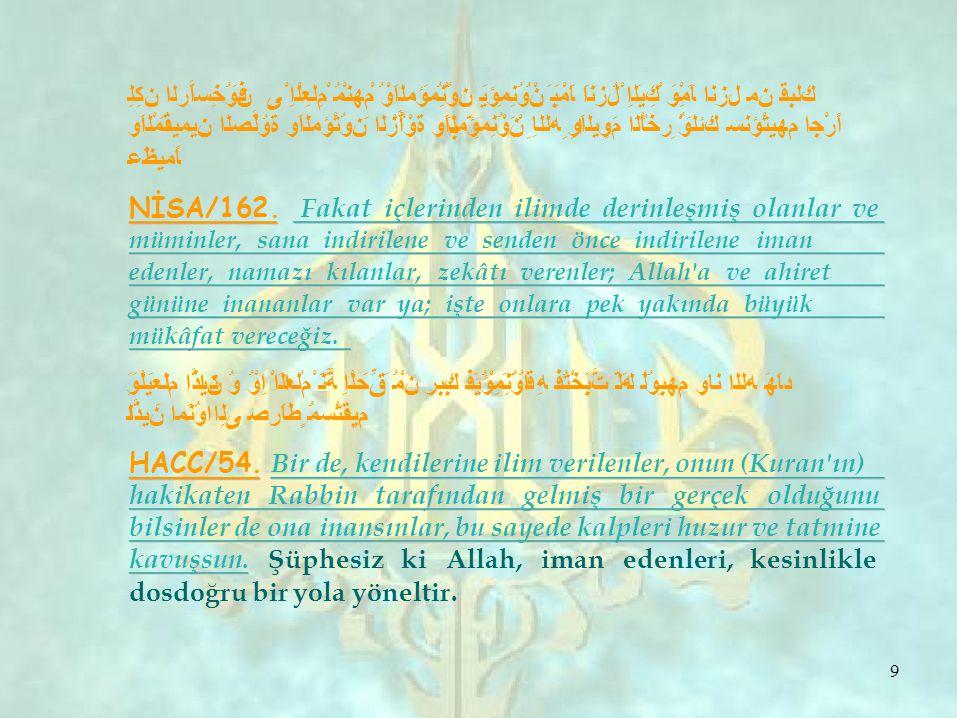HADİSLER Alimin âbide üstünlüğü, benim, sizden en basitinize olan üstünlüğüm gibidir Allahu Tela Hazretleri, melekleri, semâvat ehli, deliğindeki karıncaya, denizindeki balıklara varıncaya kadar arz ehli, halka hayrı öğretene mağfiret duasında bulunur.