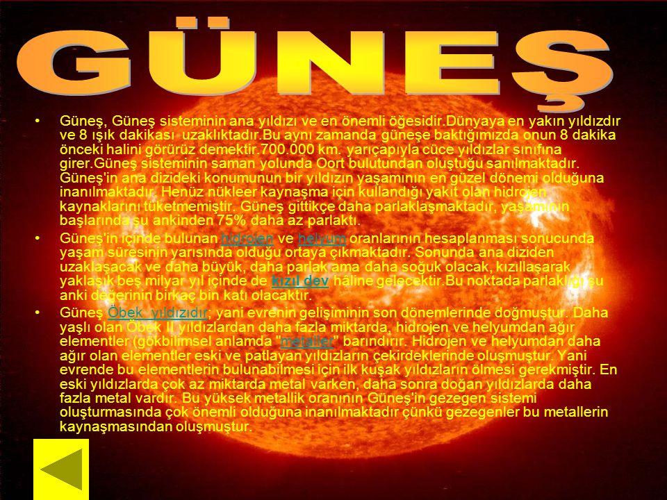 Güneş, Güneş sisteminin ana yıldızı ve en önemli öğesidir.Dünyaya en yakın yıldızdır ve 8 ışık dakikası uzaklıktadır.Bu aynı zamanda güneşe baktığımız