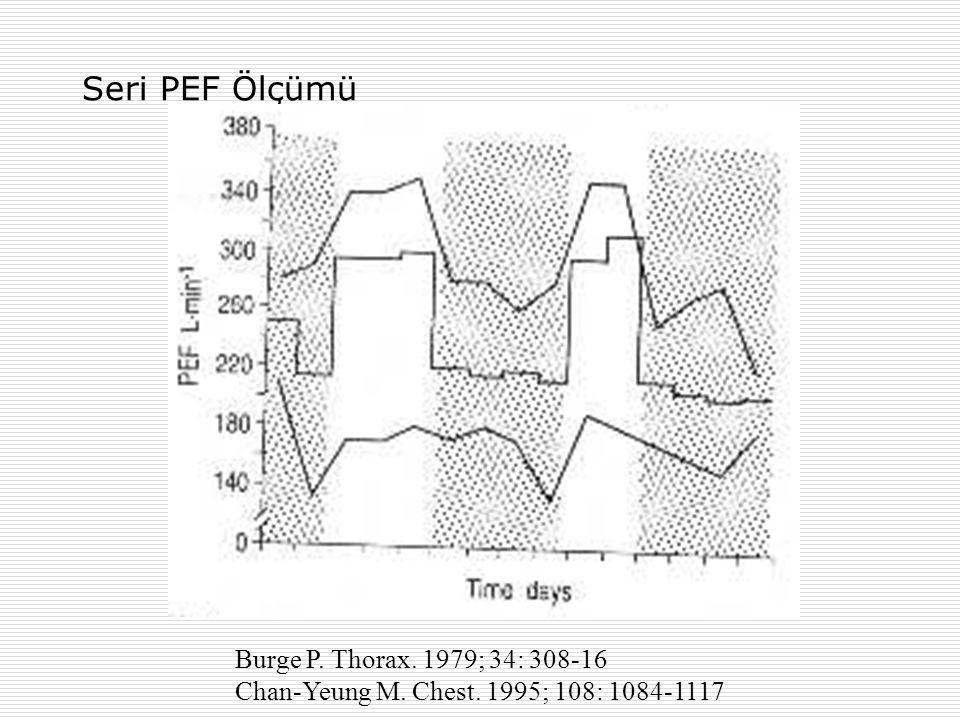 Seri PEF Ölçümü Burge P. Thorax. 1979; 34: 308-16 Chan-Yeung M. Chest. 1995; 108: 1084-1117