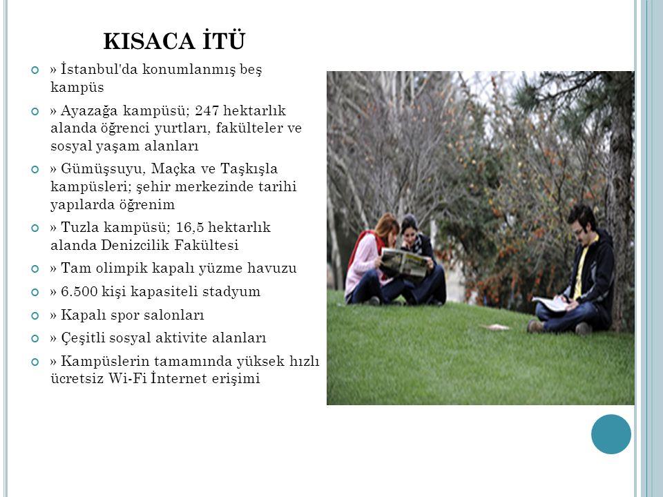 KISACA İTÜ » İstanbul'da konumlanmış beş kampüs » Ayazağa kampüsü; 247 hektarlık alanda öğrenci yurtları, fakülteler ve sosyal yaşam alanları » Gümüşs