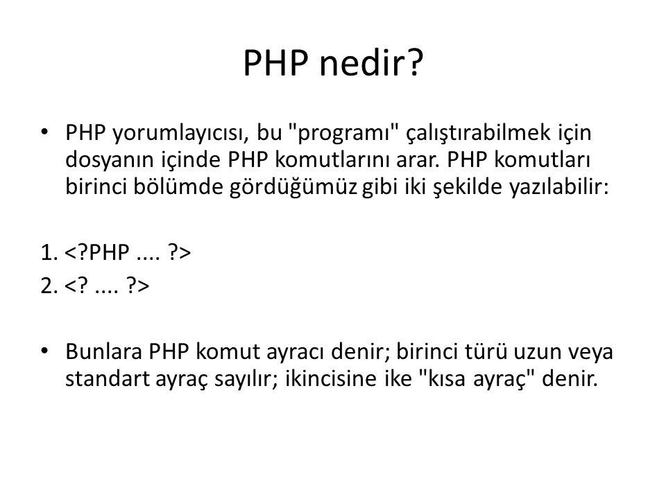 PHP nedir? PHP yorumlayıcısı, bu