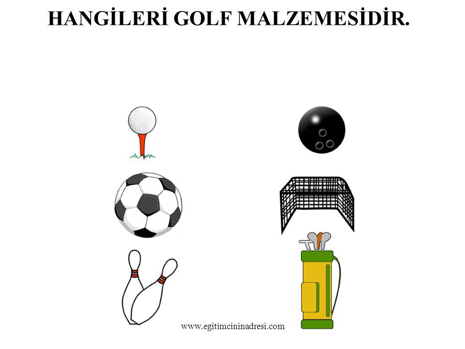 HANGİLERİ GOLF MALZEMESİDİR. www.egitimcininadresi.com