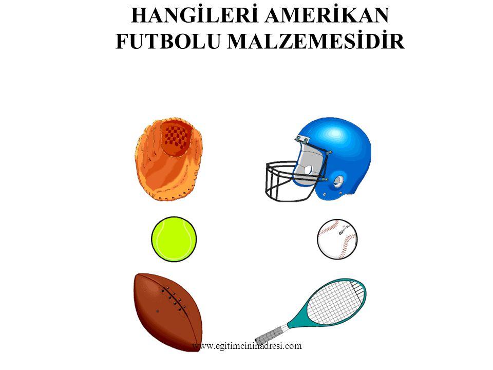 HANGİLERİ AMERİKAN FUTBOLU MALZEMESİDİR www.egitimcininadresi.com
