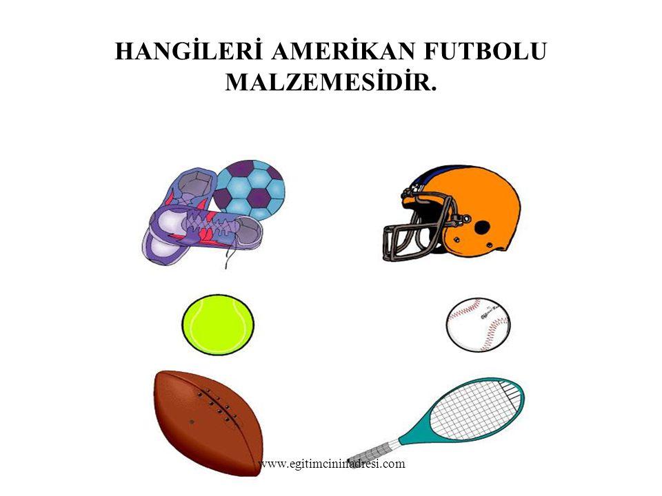 HANGİLERİ AMERİKAN FUTBOLU MALZEMESİDİR. www.egitimcininadresi.com