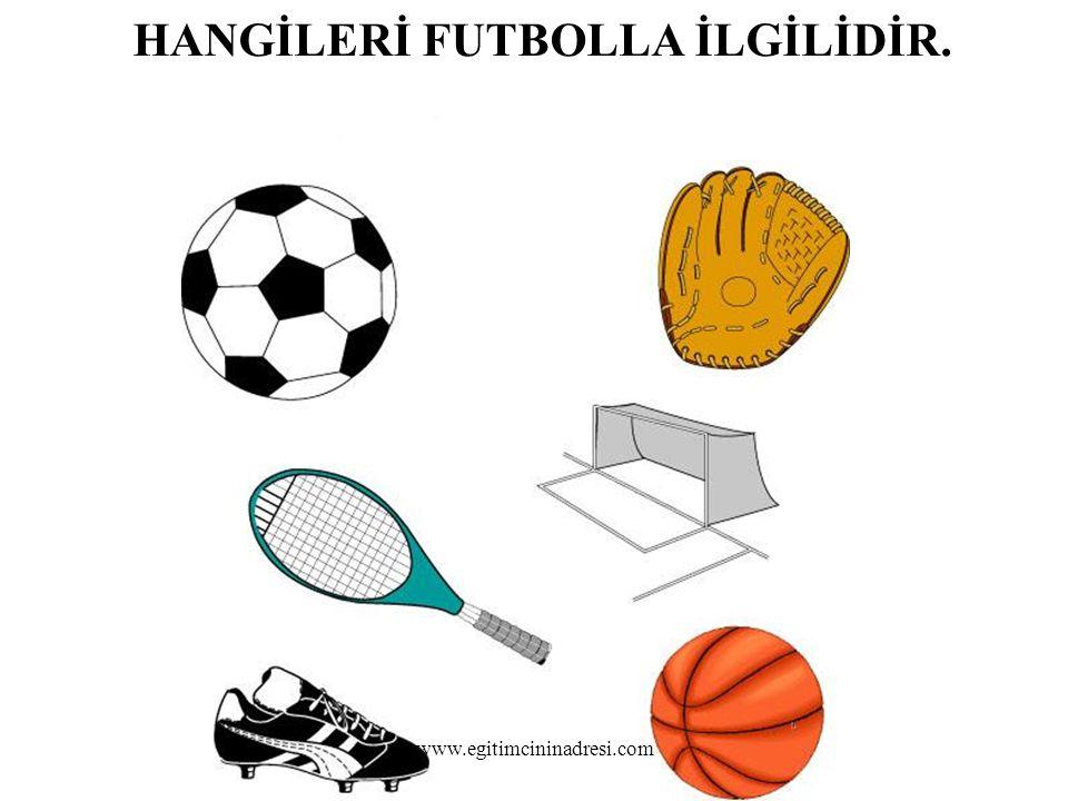 HANGİLERİ FUTBOLLA İLGİLİDİR. www.egitimcininadresi.com