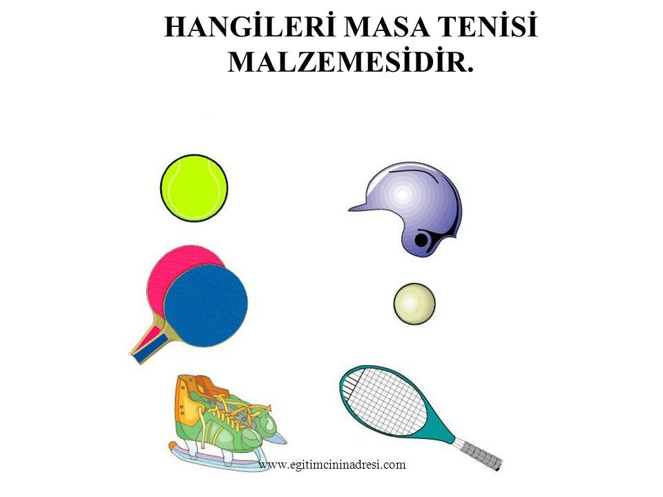HANGİLERİ MASA TENİSİ MALZEMESİDİR. www.egitimcininadresi.com