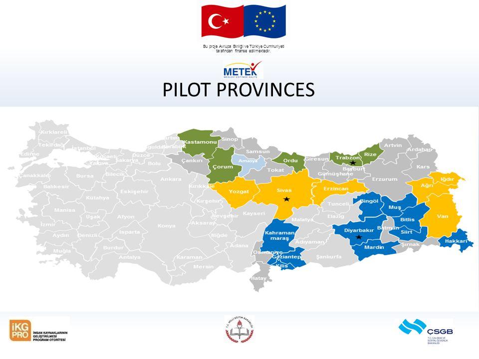 Bu proje Avrupa Birliği ve Türkiye Cumhuriyeti tarafından finanse edilmektedir. PILOT PROVINCES