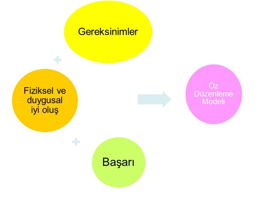 Başarı Gereksinimler Fiziksel ve duygusal iyi oluş Öz Düzenleme Modeli