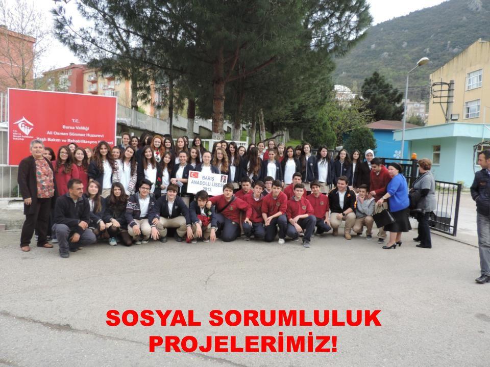 SOSYAL SORUMLULUK PROJELERİMİZ!