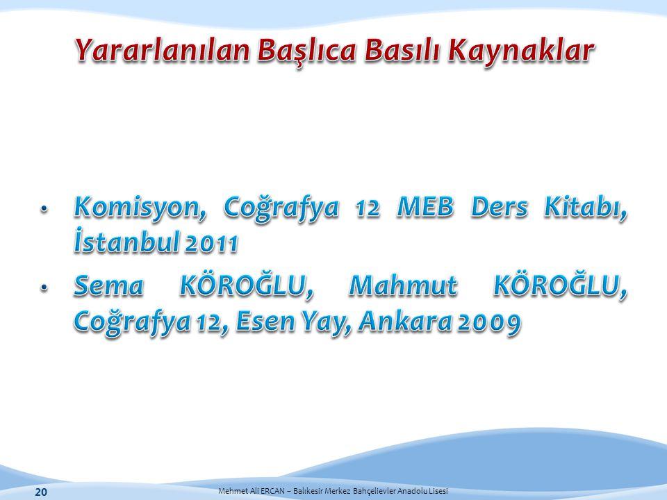 Mehmet Ali ERCAN – Balıkesir Merkez Bahçelievler Anadolu Lisesi 20