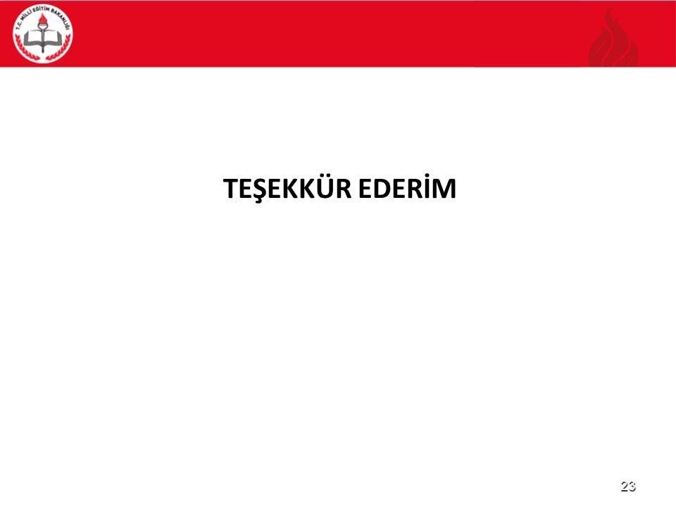 TEŞEKKÜR EDERİM 23