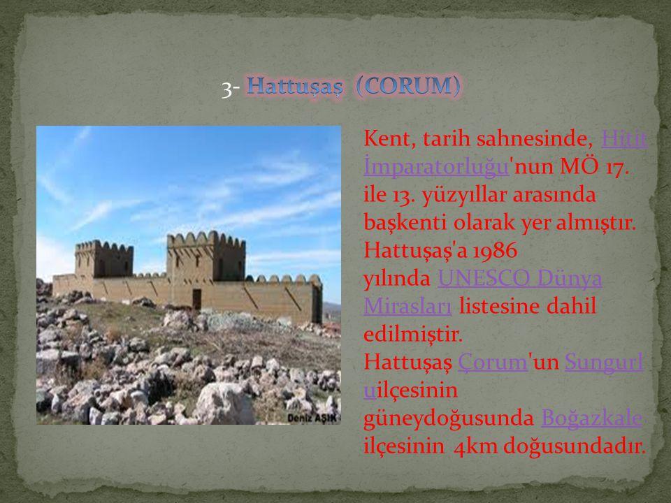 Kent, tarih sahnesinde, Hitit İmparatorluğu'nun MÖ 17. ile 13. yüzyıllar arasında başkenti olarak yer almıştır. Hattuşaş'a 1986 yılında UNESCO Dünya M