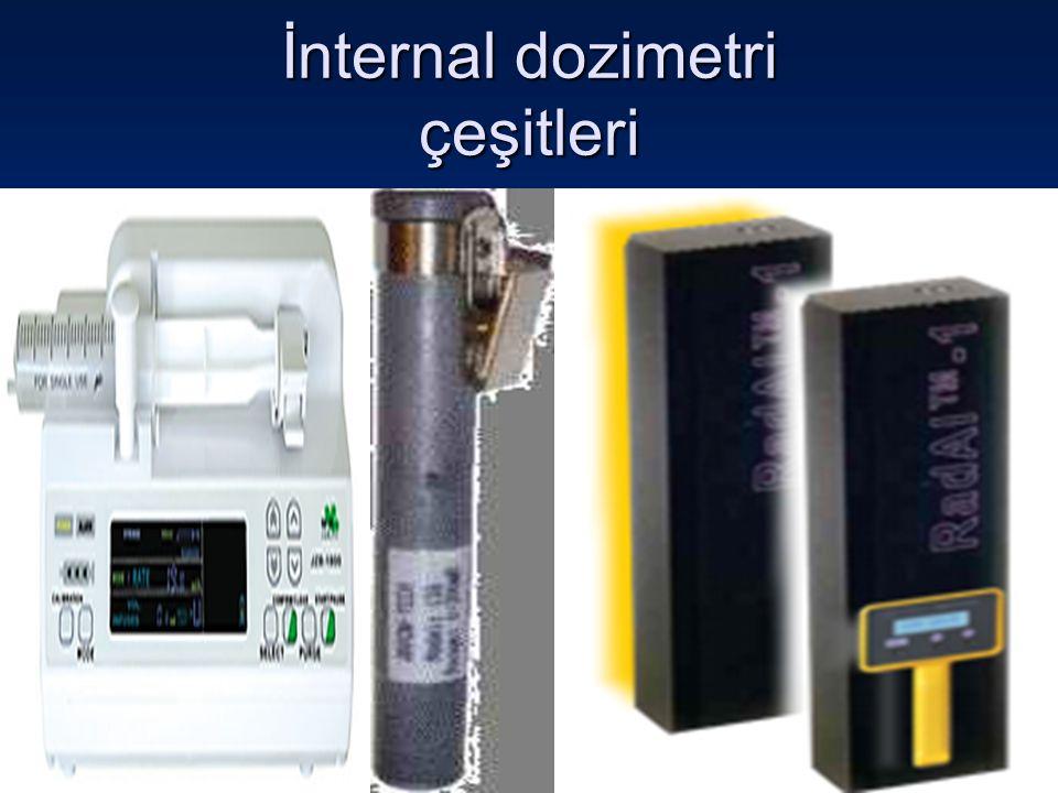 İnternal dozimetri, özellikle alfa yayıcı ve düşük enerjili beta yayan açık kaynaklarla çalışılan yerlerde kişisel doz tayini için rutin olarak uygulanması gerekli bir yöntemdir.