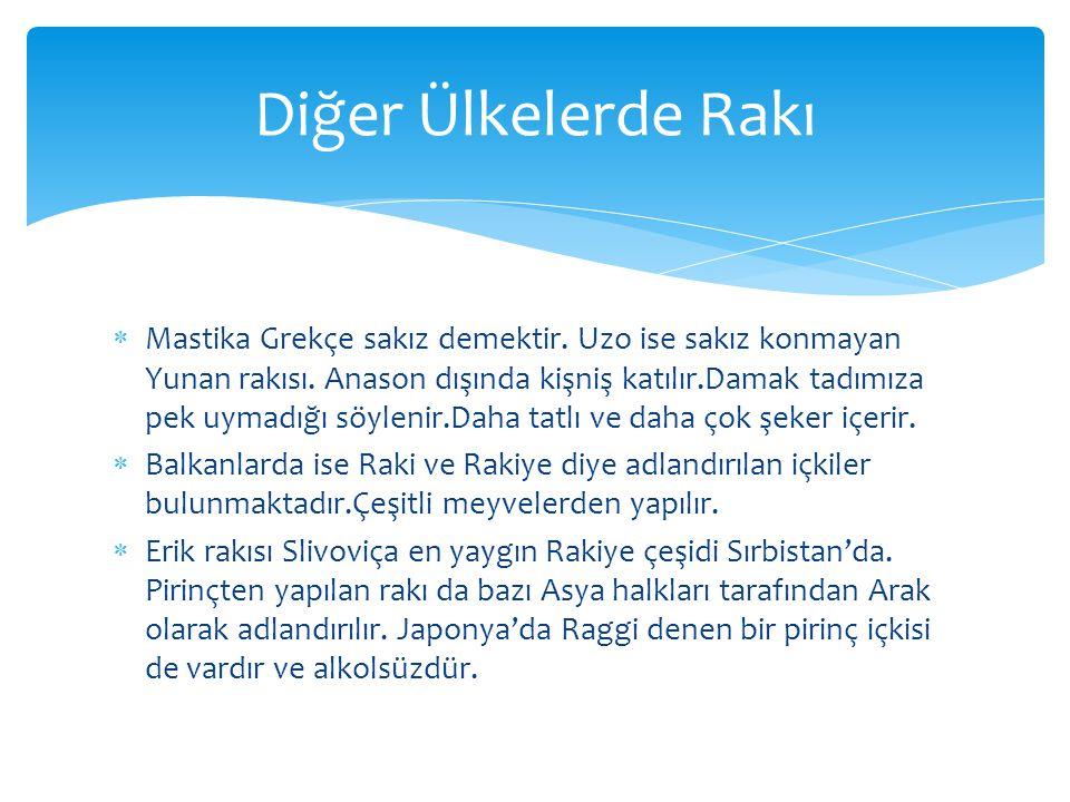  Bugün kullanmakta olduğumuz geleneksel rakı kadehimiz aslında şerbet bardağıdır.Ülkemizde elektrik kullanımı ilk olarak 19.yy.'ın ikinci yarısında İstanbul'da kısıtlı olarak başlamıs, 20.yy.'ın başlarında daha yaygın bir halde kullanılır hale gelmiştir.