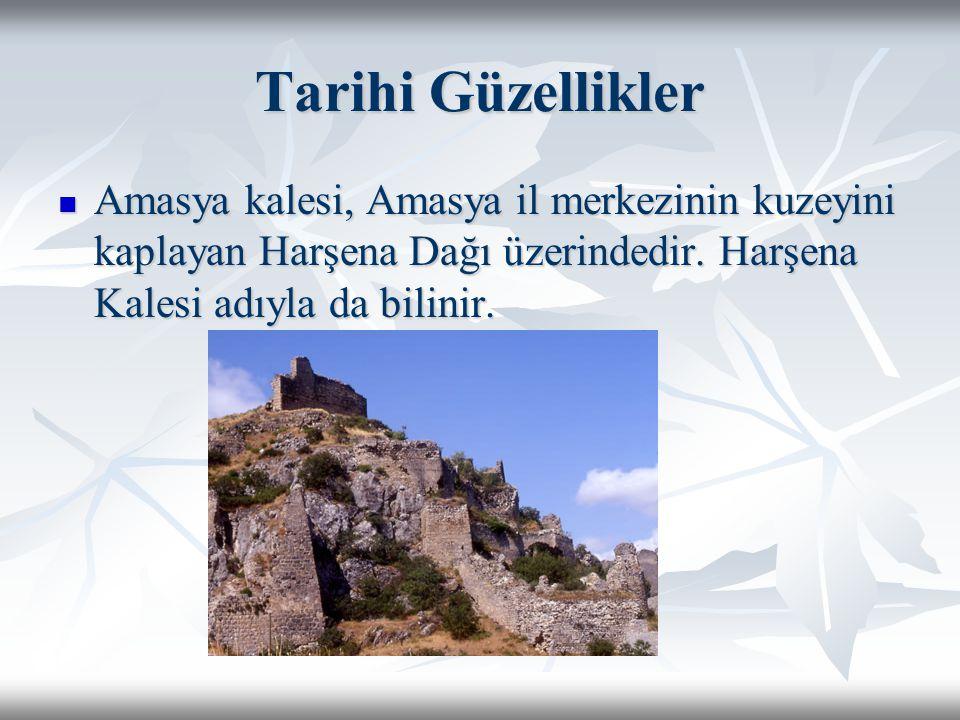 Tarihi Güzellikler Amasya kalesi, Amasya il merkezinin kuzeyini kaplayan Harşena Dağı üzerindedir. Harşena Kalesi adıyla da bilinir. Amasya kalesi, Am
