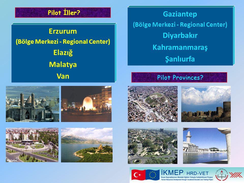 Erzurum (Bölge Merkezi - Regional Center) Elazığ Malatya Van Pilot İller? Gaziantep (Bölge Merkezi - Regional Center) Diyarbakır Kahramanmaraş Şanlıur